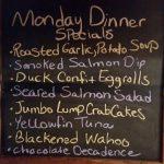 Monday Dinner Specials 11/21