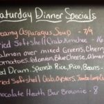 Saturday Dinner Specials: Softshell Crabs, Red Drum, Salmon