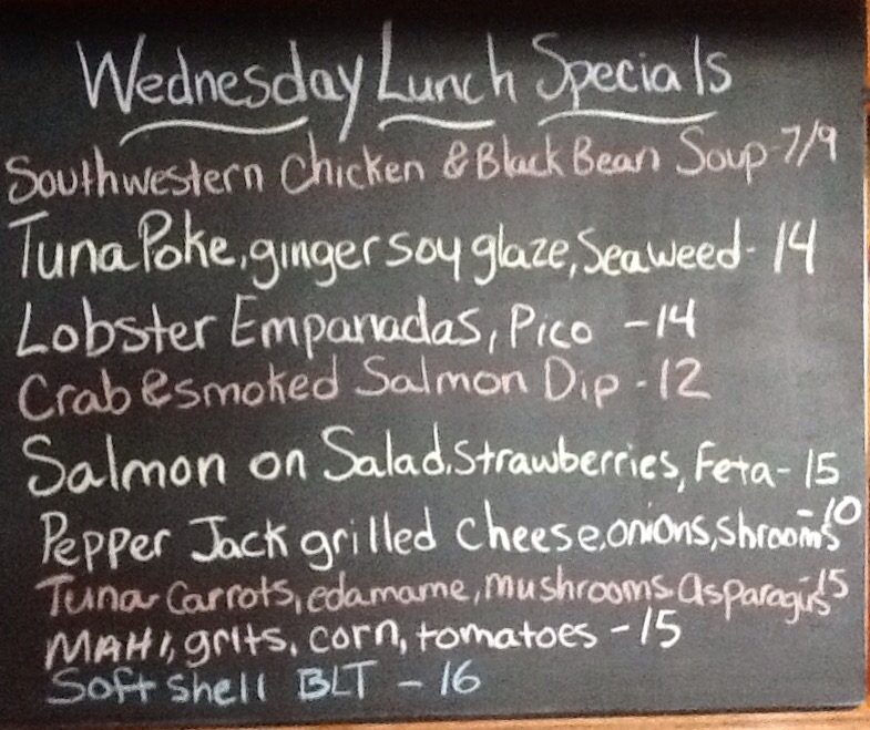Wed Food Specials: Wednesday Lunch Specials: Soft Crab BLT, Salmon, Pepper