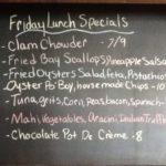 Friday Lunch Specials: Tuna, Mahi, Bay Scallops