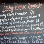 Friday Dinner Specials: Tilefish, Tuna, Snapper