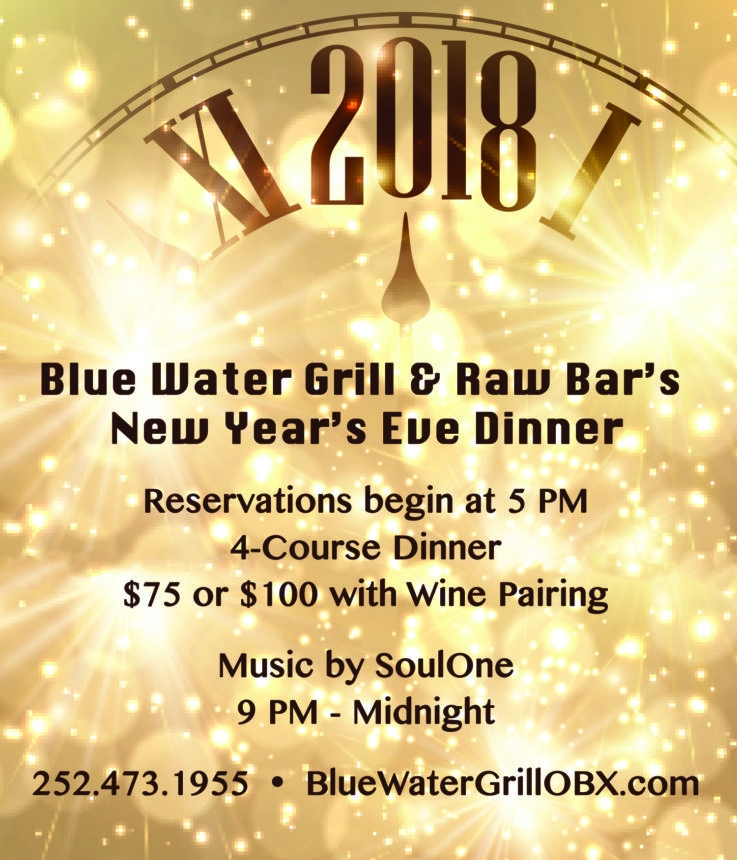 New year 39 s eve dinner make your reservation today blue for What to make for new years eve dinner